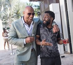 Hot to trot: Dwayne Johnson and Denzel Washington's handsome son John David, in HBO's Ballers