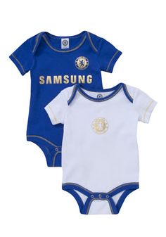Chelsea Football Club Pack of 2 bodysuits from Clothing at Tesco