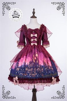 Precious Clove ~Rapunzel~ Lolita OP Dress - 4 Colors Available - Pre-order Closed Harajuku Fashion, Kawaii Fashion, Lolita Fashion, Cute Fashion, Gothic Fashion, Estilo Lolita, Grunge Style, Soft Grunge, Mori Girl