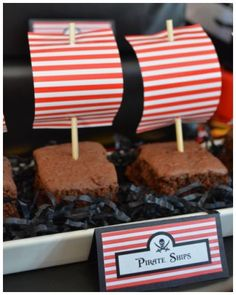 Pirate Party - Pirate Ships Styled by Bespoke Party Plans -You can find Pirate party and more on our website.Pirate Party - Pirate Ships Styled by Bespoke Party Plans - Pirate Food, Pirate Day, Pirate Themed Food, Pirate Party Foods, Pirate Snacks, Deco Pirate, Peter Pan Party, 4th Birthday Parties, Boy Birthday