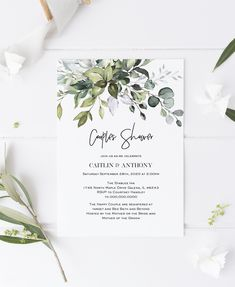 Personalised Wedding Invitation A6 Free Enveloppe botanique fleurs Design Pack De 50