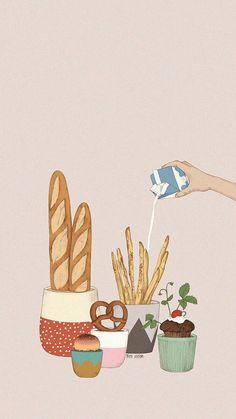 kawaii wallpaper - Food Group Bingo Nutrition Activity for Kids Cute Food Wallpaper, Wallpaper App, Kawaii Wallpaper, Trendy Wallpaper, Pastel Wallpaper, Cute Wallpapers, Cute Illustration, Aesthetic Art, Food Art