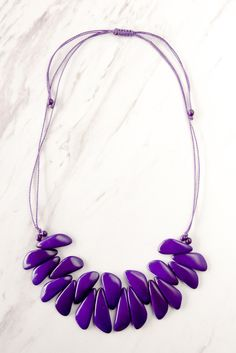 "Adorn yourself with this handmade necklace for a unique look! - Approximately 14""L hanging length. Adjustable - Tagua Bead - Peru"