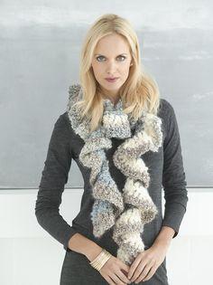 Super Quick Ruffled Scarf Pattern (Crochet)