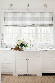 35 Inspiring White Farmhouse Style Kitchen Ideas To Maximize Kitchen Design 35 Inspiring White Farmhouse Style Kitchen Ideas To Maximize Kitchen Design – BUILDEHOME Farmhouse Kitchen Curtains, House, Home, Kitchen Window Treatments, Farmhouse Style Kitchen, House Interior, Kitchen Sink Window, Home Kitchens, Curtain Decor