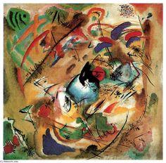 Improvisation (rêveur), huile sur toile de Wassily Kandinsky (1866-1944, Russia)