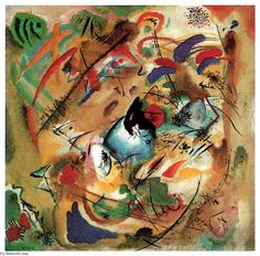 'improvisation (rêveuse', huile sur toile de Wassily Kandinsky (1866-1944, Russia)