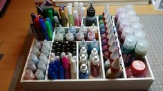 Glitter pens, stickles, glitter glues - Scrapbook.com- A DIY organization box made out of Foam Core Board