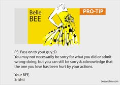 Belle BEE tips for 'Sorry Series - I' @ Bee & Blu - beeandblu.com #indianfashionblog #indianlifestyleblog #boyfriend #blogger #sorry #relationship #lifestyletips #relationshiptips