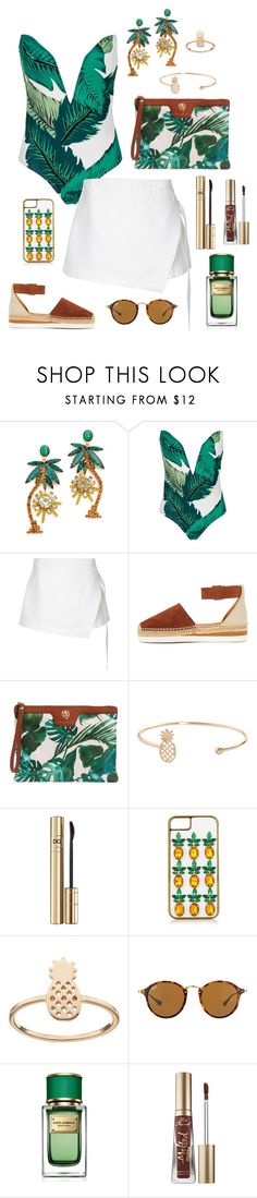 """""""Tropical"""" by brunaf19 ❤ liked on Polyvore featuring Elizabeth Cole, WithChic, Dion Lee, See by Chloé, Tommy Bahama, Humble Chic, Dolce&Gabbana, Topshop, LC Lauren Conrad and Ray-Ban"""