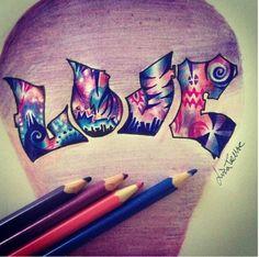 Cool Love graffiti drawing Love Graffiti, Graffiti Drawing, Graffiti Art, Art With Meaning, Doodle Lettering, Amazing Drawings, Marker Art, Doodle Drawings, Disney Art