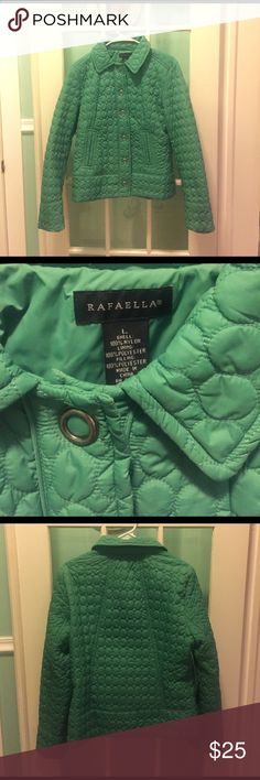 Women's Large Green Rafaella Jacket Nice! Looks great on and fits femininely. I want to keep it but it is too short for me. Rafaella Jackets & Coats Puffers