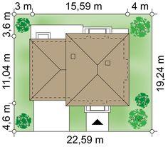Plot 22.59 × 19.24 m domu Kastor II G2