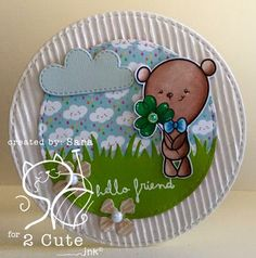 SarA Pieri: scrap stamping e fantasia: hello friend, good luck - 5/24/16.  (Pin#1: 2 Cute... Pin+: Animals; Nature: Rain/ Clouds...).