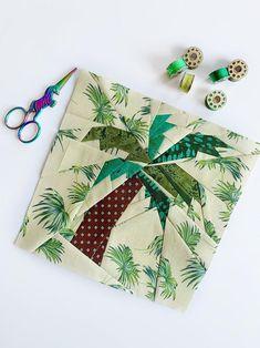 Quilt Blocks Easy, Modern Quilt Blocks, Modern Quilt Patterns, Paper Piecing Patterns, Quilt Block Patterns, Pattern Blocks, Tree Patterns, Pattern Ideas, Christmas Tree Quilt