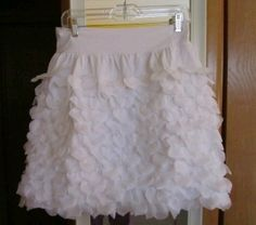 dollar store petal skirt--size down for girls