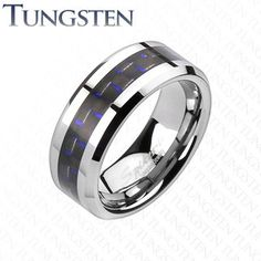 Pin It To Win It! #buybluesteel  The Blue Carbon Ring