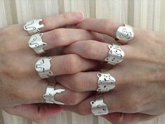 wolf in adjustable ring adjustable wolf ring in silver Unusual Jewelry, Handmade Jewelry, Metal Nobre, Metal Clay Jewelry, Precious Metal Clay, Ring Shapes, Silver Rings, Jewelry Making, Gold