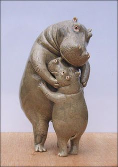 Hippo mother/child love