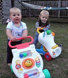 """Jaydon's springtime dinner party"" Ryley and Jaydon pepare for the baby walker race."