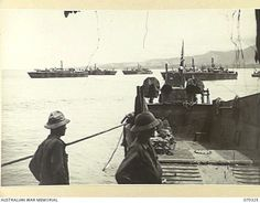 WHITE BEACH, SAIDOR, NEW GUINEA, 1944-02-10. BARGES AND PATROL TORPEDO BOATS OF THE 542ND UNITED STATES BOAT COMPANY, AT WHITE BEACH. Boat Companies, Pt Boat, United States Navy, South Pacific, Us Navy, Mtb, Wwii, San Diego, Boats