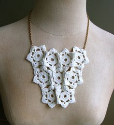 Crocheted Lace Necklace No1 by SincerelySmitten on Etsy, $29.00