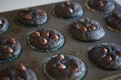 Skinny Chocolate (Heavenly) Muffins via Lady's Little Loves #healthysnacking #glutenfree