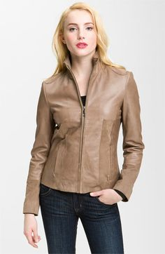 Elie Tahari 'Tilly' Leather Jacket available at #Nordstrom    I like my leather jackets structured :)