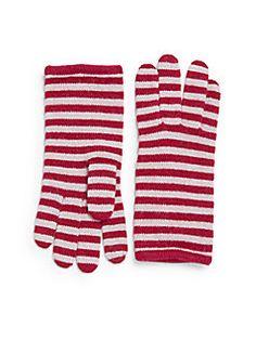Portolano - Minerva Striped Knit Tech Gloves