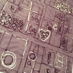 Louise Richardson Surface Design & Textiles - Edinburgh Treasures Print - 2014