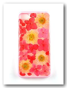 Handmade iPhone 4/4s case Resin with Real Flowers by Annysworkshop, $20.00