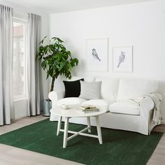 SPORUP Teppe, kort lugg - mørk grønn - IKEA Living Room Green, Living Room Sofa, Rugs In Living Room, Bedroom Carpet, Living Room Carpet, Ikea Interior, Professional Carpet Cleaning, Green Sofa, Green Carpet