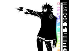 Air Gear Black and White Ikki Wallpaper | Customity