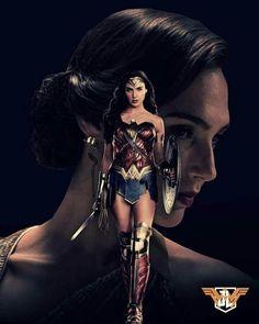 Gal Gadot as Wonder Woman Wonder Woman Art, Gal Gadot Wonder Woman, Wonder Woman Comic, Wonder Women, Comic Movies, Good Movies, Batman Vs Superman, Batman Art, Batman Robin