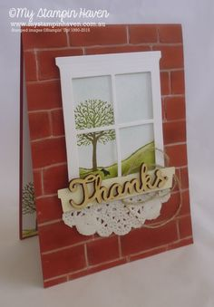 Happy Scenes, Hearth & Home Framelits, Brick Wall embossing folder thank you…