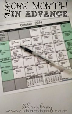 Planning a month in advance can save so much time! Free checklist included to help not forget anything that can be planned.