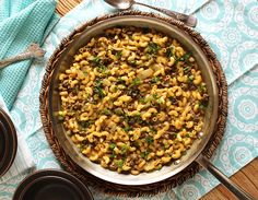 """This easy, one-pot Cheeseburger Macaroni Skillet uses """"from scratch"""" ingredients to recreate this classic comfort dish in minutes. Crab Dip Recipes, Beef Recipes, Cooking Recipes, Beef Meals, Cat Recipes, Rice Recipes, Best Salisbury Steak Recipe, Hot Crab Dip, Hamburger Helper"""