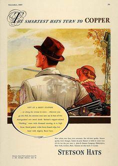 Publicidad sombreros Stetson años 30s