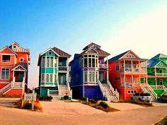 Candy colored beach homes