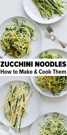 Zucchini noodles (zoodles) are healthy and perfect for gluten-free, vegetarian, vegan, keto and paleo recipes. Learn how to make and cook zucchini noodles. I'm comparing all the BEST methods! Learn how to make and cook zucchini noodles Zucchini Zoodles, Cook Zucchini Noodles, How To Cook Zucchini, Zucchini Noodle Recipes, Zoodle Recipes, Whole Food Recipes, Vegetarian Recipes, Cooking Recipes, Healthy Recipes