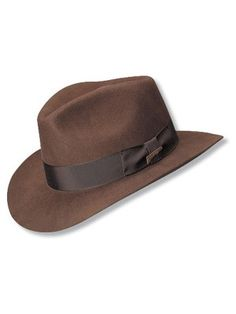 Take a look at our Indiana Jones Hats Premium Indiana Jones™ - Fur Fedora Hat made by Indiana Jones Hats as well as other fedora hats here at Hatcountry. Mens Dress Hats, Men Dress, Indiana Jones Fedora, Sharp Dressed Man, Well Dressed, Cool Hats, Felt Hat, Summer Hats, Hats For Men