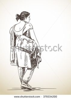 Stock Images similar to ID 270540776 - sketch of old man walking. Human Figure Sketches, Human Sketch, Human Drawing, Figure Sketching, Gesture Drawing, Figure Drawing, Cartoon Sketches, Art Drawings Sketches, Small Drawings