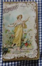 RARO CALENDARIO DA BARBIERE ALMANACCO CHRONOS PROFUMERIE A.MIGONE MILANO 1899
