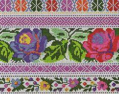 Gallery.ru / Фото #33 - Борщівські мотиви... - widpuckau Embroidery Patterns, Cross Stitch Patterns, Cross Stitch Flowers, Loom Beading, Cross Stitching, Flower Patterns, Folk, Kids Rugs, Quilts