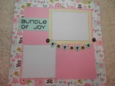 Baby Girl Scrapbook Premade Page by SimplyMemories on Etsy