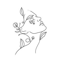 Cool Art Drawings, Pencil Art Drawings, Art Drawings Sketches, Minimalist Drawing, Minimalist Art, Abstract Face Art, Outline Art, Diy Canvas Art, Art Abstrait