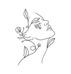 Minimalist Drawing, Minimalist Art, Pencil Art Drawings, Art Drawings Sketches, Minimal Drawings, Abstract Face Art, Outline Art, Diy Canvas Art, Embroidery Art