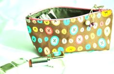 Pouch zipper pouch organizer in heavy by manufattofattoamano, $16.00
