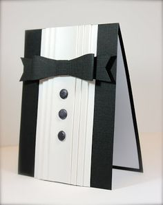 handmade card in the shape of tuxedo ... luv it!