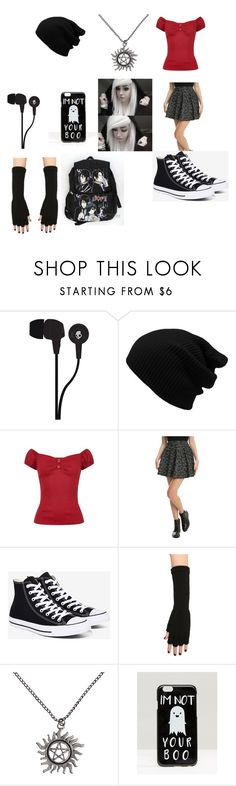 """cutie #2"" by djmyers ❤ liked on Polyvore featuring Skullcandy, Collectif, Converse and ASOS"